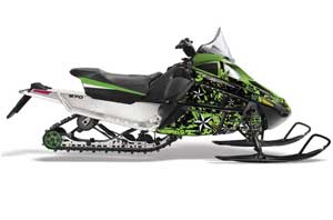 Arctic Cat F Z1 Series Sled Graphic Kit - All Years North Star Green