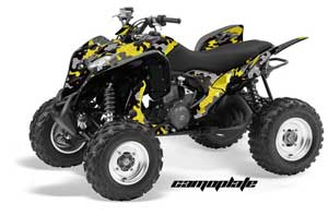 Honda TRX 700 XX ATV Graphic Kit - 2009-2015 Camoplate Yellow