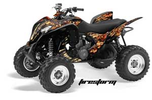 Honda TRX 700 XX ATV Graphic Kit - 2009-2015 Firestorm Black
