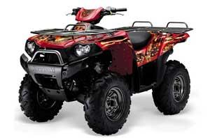 Kawasaki Brute Force 650i 4x4 ATV Graphic Kit - 2004-2012 Firestorm Red