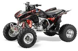 Honda TRX 450R ATV Graphic Kit - 2004-2016 Mad Hatter Black