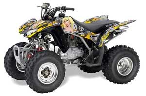 Honda TRX 250EX / 250R / 250X ATV Graphic Kit - 2006-2018 Motorhead Mandy Silver