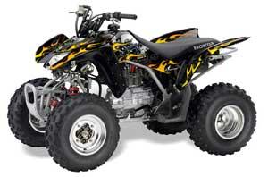 Honda TRX 250EX / 250R / 250X ATV Graphic Kit - 2006-2018 Motorhead Black