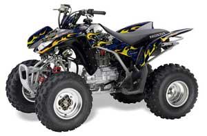 Honda TRX 250EX / 250R / 250X ATV Graphic Kit - 2006-2018 Motorhead Blue