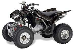 Honda TRX 250EX / 250R / 250X ATV Graphic Kit - 2006-2018 Reaper Black