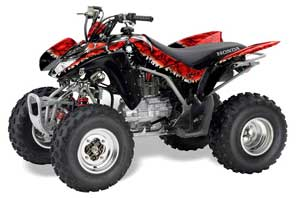 Honda TRX 250EX / 250R / 250X ATV Graphic Kit - 2006-2018 Reaper Red