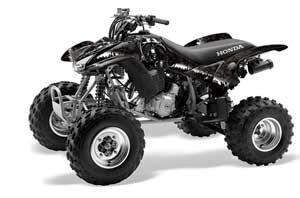Honda TRX 400EX ATV Graphic Kit - 1999-2007 Reaper Black