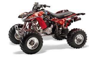 Honda TRX 400EX ATV Graphic Kit - 1999-2007 Mad Hatter Red
