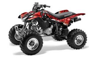 Honda TRX 400EX ATV Graphic Kit - 1999-2007 Reaper Red