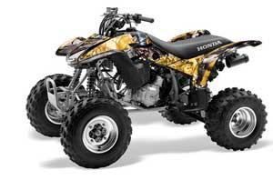 Honda TRX 400EX ATV Graphic Kit - 1999-2007 Mad Hatter Black