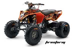 KTM 450 / 505 / 525 ATV Graphic Kit - 2008-2010 Firestorm Black