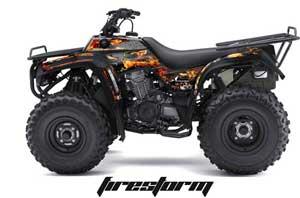 Kawasaki Bayou 220 / 250 / 300 ATV Graphic Kit - All Years Firestorm Black