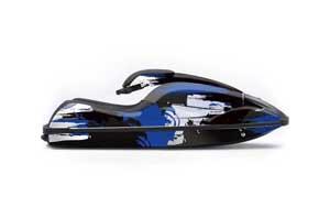Kawasaki 750 SX / SXR Jet Ski Graphic Kit - 1992-1998 Carbon X Blue