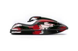 Kawasaki 750 SX / SXR Jet Ski Graphic Kit - 1992-1998 Carbon X Red