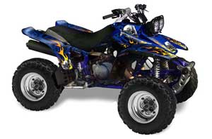 Yamaha Warrior 350 ATV Graphic Kit - All Years Motorhead Blue