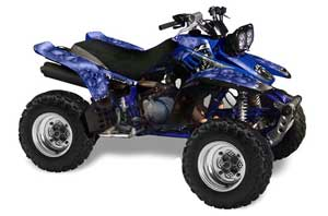 Yamaha Warrior 350 ATV Graphic Kit - All Years Reaper Blue