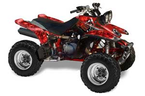 Yamaha Warrior 350 ATV Graphic Kit - All Years Reaper Red