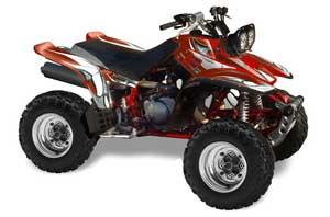 Yamaha Warrior 350 ATV Graphic Kit - All Years Tribal Flames Red