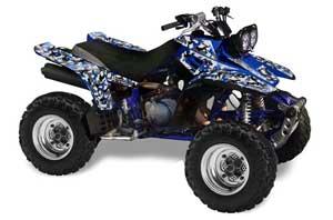Yamaha Warrior 350 ATV Graphic Kit - All Years Urban Camo Blue