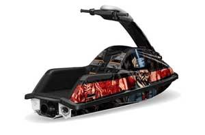 Yamaha Superjet Round Nose Jet Ski Graphic Kit - All Years Mad Hatter Black