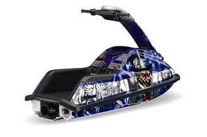 Yamaha Superjet Round Nose Jet Ski Graphic Kit - All Years Mad Hatter Blue