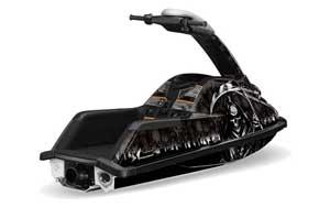 Yamaha Superjet Round Nose Jet Ski Graphic Kit - All Years Reaper Black