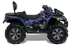 Can Am Outlander MAX 500 / 650 / 800 ATV Graphic Kit - 2006-2012 Firestorm Blue