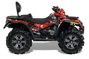 Can Am Outlander MAX 500 / 650 / 800 ATV Graphic Kit - 2006-2012 Mad Hatter Red