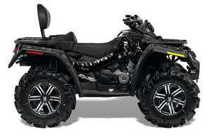 Can Am Outlander MAX 500 / 650 / 800 ATV Graphic Kit - 2006-2012 Reaper Black