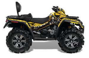 Can Am Outlander MAX 500 / 650 / 800 ATV Graphic Kit - 2006-2012 Reaper Yellow
