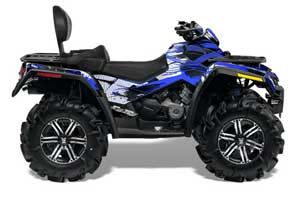 Can Am Outlander MAX 500 / 650 / 800 ATV Graphic Kit - 2006-2012 Carbon X Blue