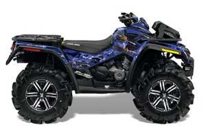 Can Am Outlander XMR 800R ATV Graphic Kit - 2006-2012 Firestorm Blue
