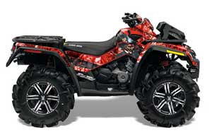 Can Am Outlander XMR 800R ATV Graphic Kit - 2006-2012 Mad Hatter Red