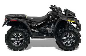 Can Am Outlander XMR 800R ATV Graphic Kit - 2006-2012 Reaper Black