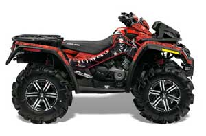 Can Am Outlander XMR 800R ATV Graphic Kit - 2006-2012 Reaper Red