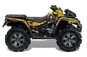 Can Am Outlander XMR 800R ATV Graphic Kit - 2006-2012 Reaper Yellow