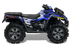 Can Am Outlander XMR 800R ATV Graphic Kit - 2006-2012 Carbon X Blue