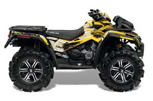 Can Am Outlander XMR 800R ATV Graphic Kit - 2006-2012 Carbon X Yellow