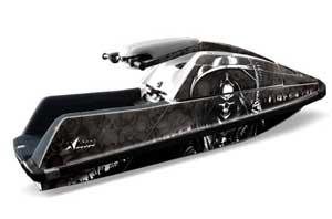 Yamaha Superjet Square Nose Jet Ski Graphic Kit - All Years Reaper Black