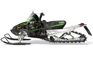 Arctic Cat M Series / Crossfire Sled Graphic Kit - All Years Mad Hatter Black