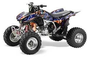 Honda TRX 450R ATV Graphic Kit - 2004-2016 Mad Hatter Blue