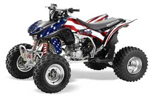 Honda TRX 450R ATV Graphic Kit - 2004-2016 Stars n Stripes Red