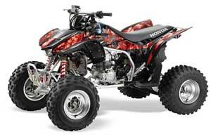Honda TRX 450R ATV Graphic Kit - 2004-2016 Mad Hatter Red
