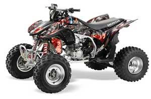 Honda TRX 450R ATV Graphic Kit - 2004-2016 Mad Hatter Silver