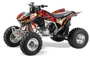 Honda TRX 450R ATV Graphic Kit - 2004-2016 Motorhead Mandy Red