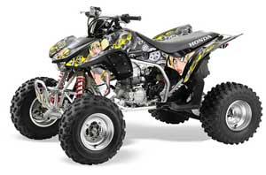 Honda TRX 450R ATV Graphic Kit - 2004-2016 Motorhead Mandy Silver