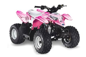 Polaris Predator 50 ATV Graphic Kit - All Years Starlett Pink