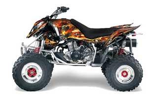 Polaris Outlaw 450 / 500 / 525 ATV Graphic Kit - 2006-2008 Firestorm Black