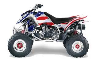 Polaris Outlaw 450 / 500 / 525 ATV Graphic Kit - 2006-2008 Stars n Stripes Red
