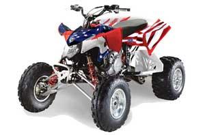 Polaris Outlaw 450 / 500 / 525 ATV Graphic Kit - 2009-2012 Stars n Stripes Red